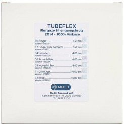 Tubeflex, rørgaze nr. 01, type A, 100% bomuld, 1,5 cm x 20 m