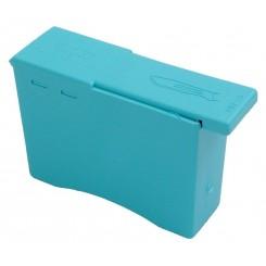Sikkerhedsboks til brugtblade ,blå