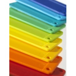 Tray Tags lilla.  Pack 100.  90 x 38mm.