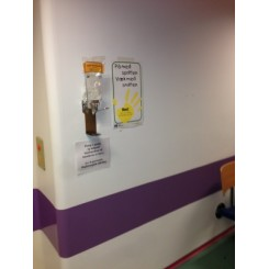 Drypbakke der passer til sæbe- & sprit tråddispenser