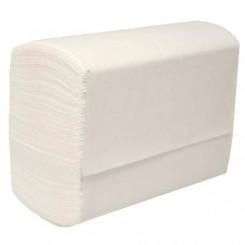 Håndklæderark Pristine M-fold 3-lag 20.3x32x8 cm Nyfiber Hvid