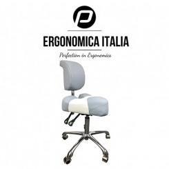 Ergo saddel stol med ryglæn, 2 farve