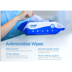 Clinell Antimicrobial Wipes/pakke af 20 stk.