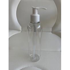Flaske 250 ml. klar med pumpe