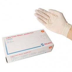 Latex handske, natur hvid
