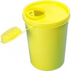 Kanylebeholder, gul, med kanyleaftræk, UN godkendt, 1,5 l