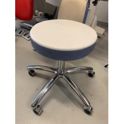 Gharliene rund stol hvid/blå kant